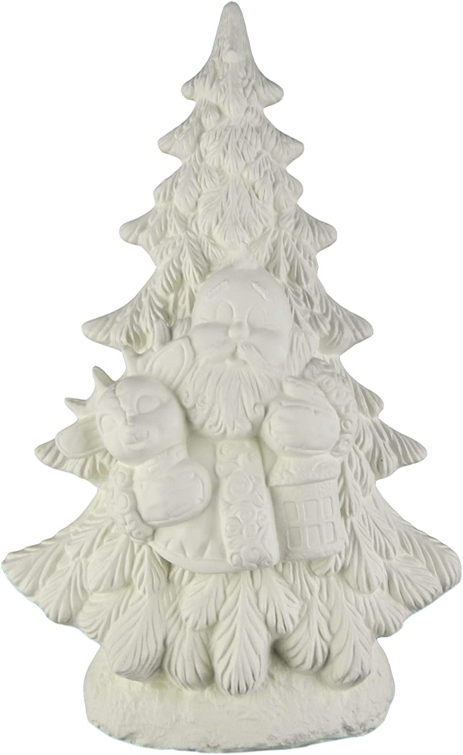 New Clay Magic Mantle Christmas Tree Ceramic Bisque ready to paint