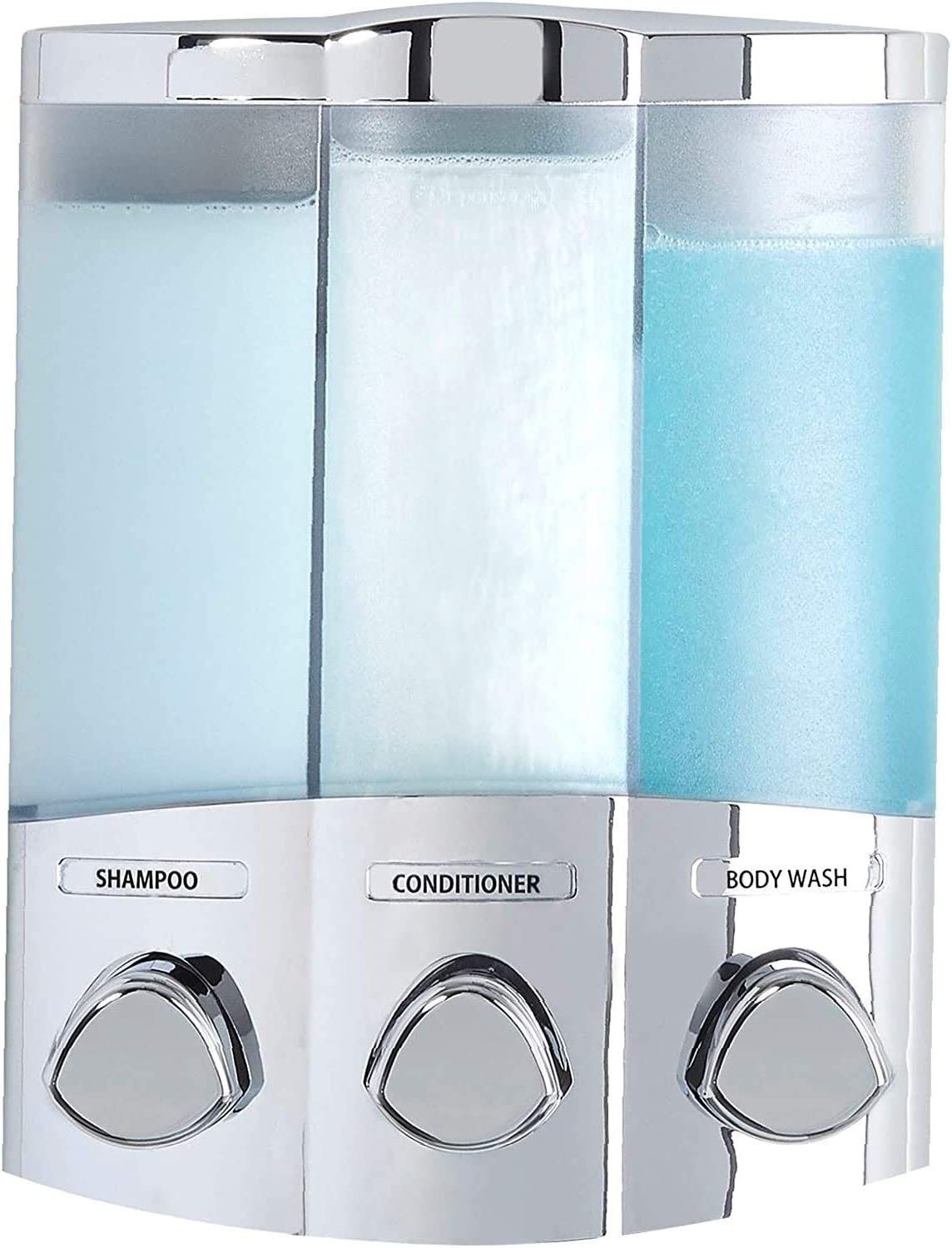 Better Living Products 76344-1 Euro Series Trio 3-Chamber Soap and Dispenser, Chrome - 1 Pack