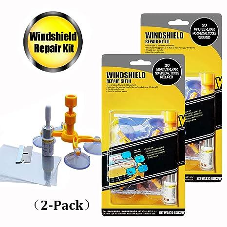 Amazon.com: GLISTON - Kit de reparación de parabrisas de ...