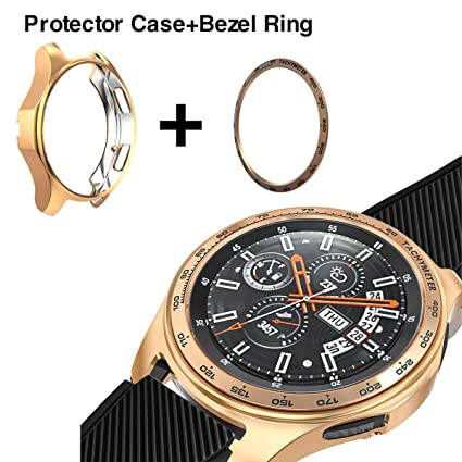 Amazon.com: [2 Pack] JZK Samsung Galaxy Watch 1.654 in Bisel ...