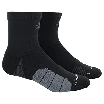 adidas quarter socks. adidas traxion menace basketball/football quarter socks, medium, black/dark grey/ socks