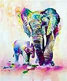5D DIY Diamond Painting Cross Stitch Diamond Mosaic Embroidery Wall Craft Decor Elephants 12X16inch