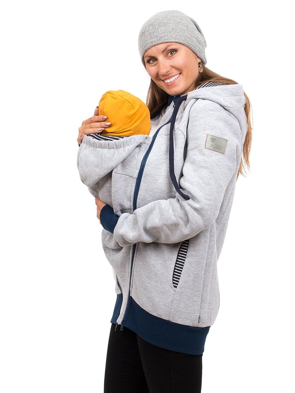 Viva la Mama 3in1 Tragejacke für Mama und Baby I Umstandsjacke Kängurujacke Sweatjacke Elliot TJ/SW/M8