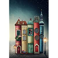 1000 Pieces Jigsaw Puzzles for Adults Colourful Book City Challenging Puzzle Large Difficult Puzzles DIY Entertainment…