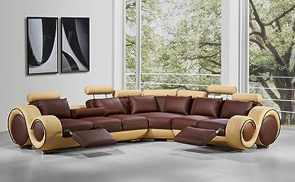 Amazon.com: Divani Casa 4087 Modern Leather Sectional Sofa ...