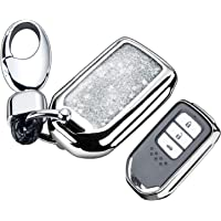 RYE Key Fob Cover with Glitter Liquid Quicksand,Flowing Bling Sparkle Key Fob Case Fit 4/5/6 Buttons Keyless Entry of…