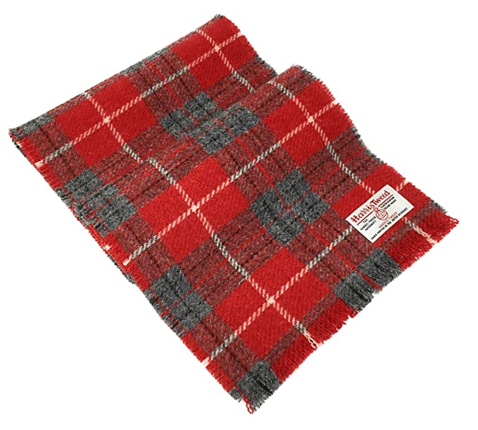 Image Unavailable. Image not available for. Color  Harris Tweed Red Tartan Wool  Scarf 06b9649dc38