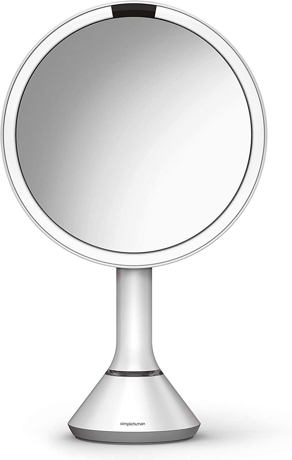 simplehuman Round Sensor Makeup Mirror with Touch-Control Dual Light Settings