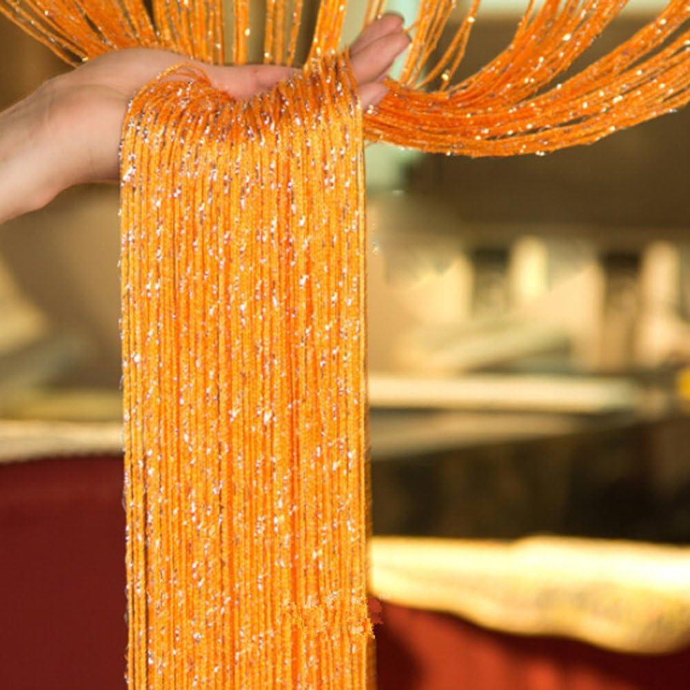 moustiquaire 99,1/cm/x/198,1/cm d/écoration de mariage pour porte fen/être ornements gouttes de ros/ée 2 panneaux de rideaux en ficelles Ewparts