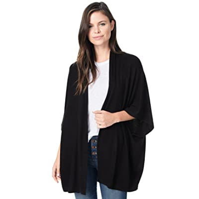 cupcakes and cashmere Bregan Black Ultra Soft Knit Cardigan, Small