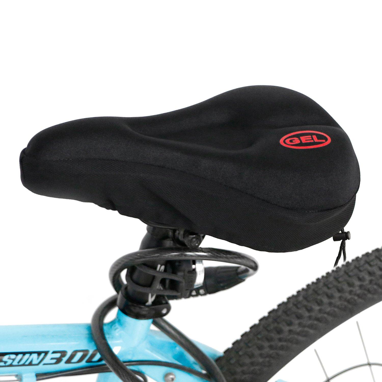 Xigeapg Mountain Bicycle Saddle Cycling Big Wide Bike Seat red/&black Comfort Soft Gel Cushion
