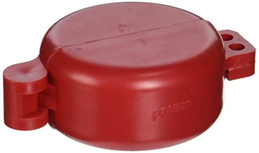 BRADY BS07A-RD Ball Valve Lockout,Red,1//2 to 2-1//2 In.