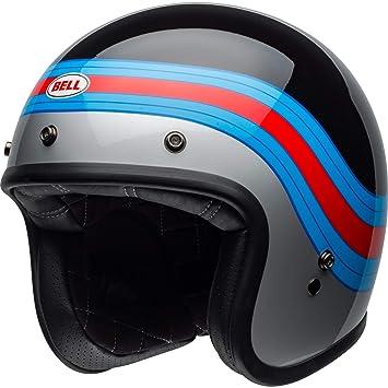 Bell 7098801 Custom 500 DLX Pulse Casco, Negro/Azul/Rojo, Talla S