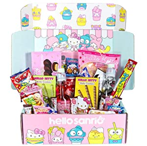 Hello Sanrio Surprise Japanese Snacks Box! Assortment Of Cookies, Crackers, Candy, Soda, And So Much More Straight From Japan! Awesome Mix Of Japan Snacks! Hello Kitty-Inspired Snacks Every Time!