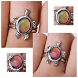 Turtle Color Change Mood Ring Adjustable