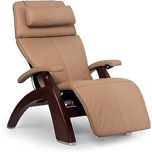 "Perfect Chair ""PC-610 Omni-Motion Classic"" Top Grain Leather Zero Gravity Recliner, Sand"