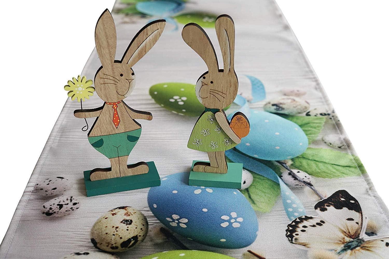 khevga D/écoration en Bois Lapin Ensemble de 2 d/écoration de P/âques Lapin de P/âques