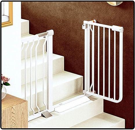 QIANDA Barrera Seguridad Niños Protector Escaleras Bebe Barrera Protectora Mascota Puerta Interior Perro Aislamiento Cerca Auto Cierre, Todo El Ancho 68-237cm (Color : White, Size : 195-202cm): Amazon.es: Hogar