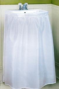 Better Home New Fabric Sink Skirt, White