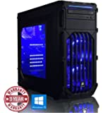 ADMI ULTRA GAMING PC - Six Core High Spec LED, Home, Family, Multimedia Desktop Gaming Computer with Platinum Warranty: AMD FX-6350 High Spec Blue LED, Home, Family, Multimedia Desktop Gaming Computer with Platinum Warranty: Powerful Six Core 4.20GHz Turbo CPU, Nvidia GTX 1050 Ti 4GB HDMI Graphics Card, 8GB 1600MHz DDR3 RAM, 240GB SSD Storage, HDMI Output 1080p, High Speed USB 3.0, 150Mbps WiFi included, Pre-Installed with Windows 10