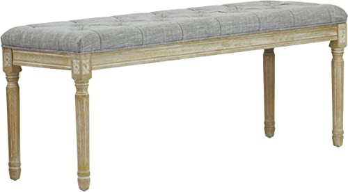 Lux Home Christie s XL French Bench Grey