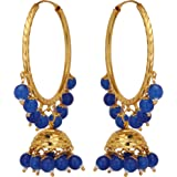 Jwellmart Indian Traditional Bollywood Lightweight Gold Plated Bali Jhumka Fashion Earrings for Women and Girls