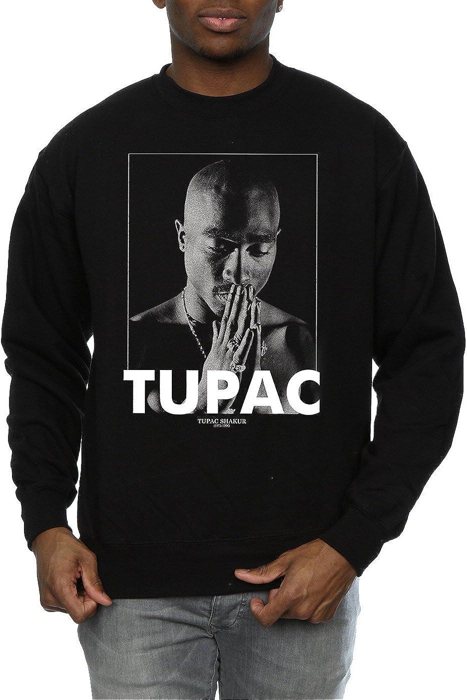 2Pac Herren Tupac Shakur Praying Sweatshirt XX-Large Schwarz
