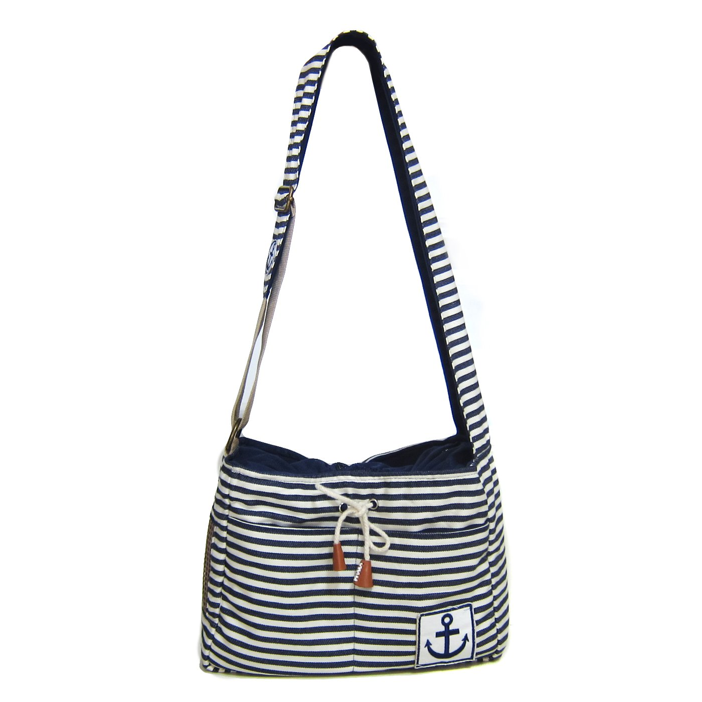 Alfie Pet by Petoga Couture - Rei Pet Sling Carrier with Adjustable Strap - Color: Navy, Size: M