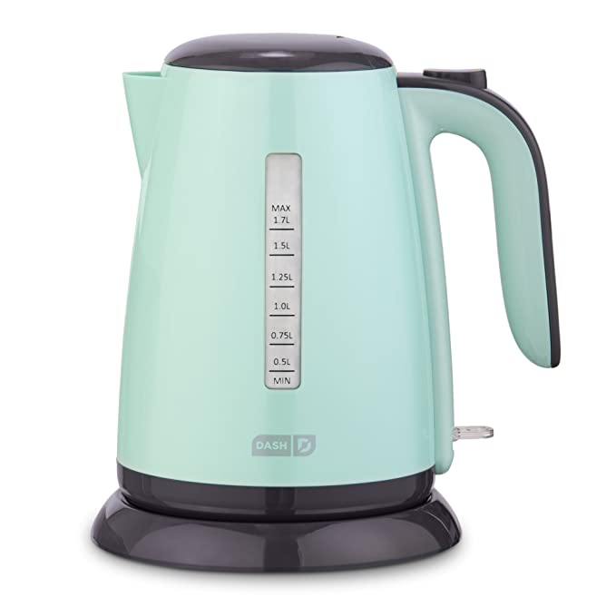 574e43245b2b8 Amazon.com: Dash DEZK003AQ Easy Electric Kettle + Water Heater with with  Rapid Boil, Cool Touch Handle, Cordless Carafe + Auto Shut off for Coffee,  Tea, ...