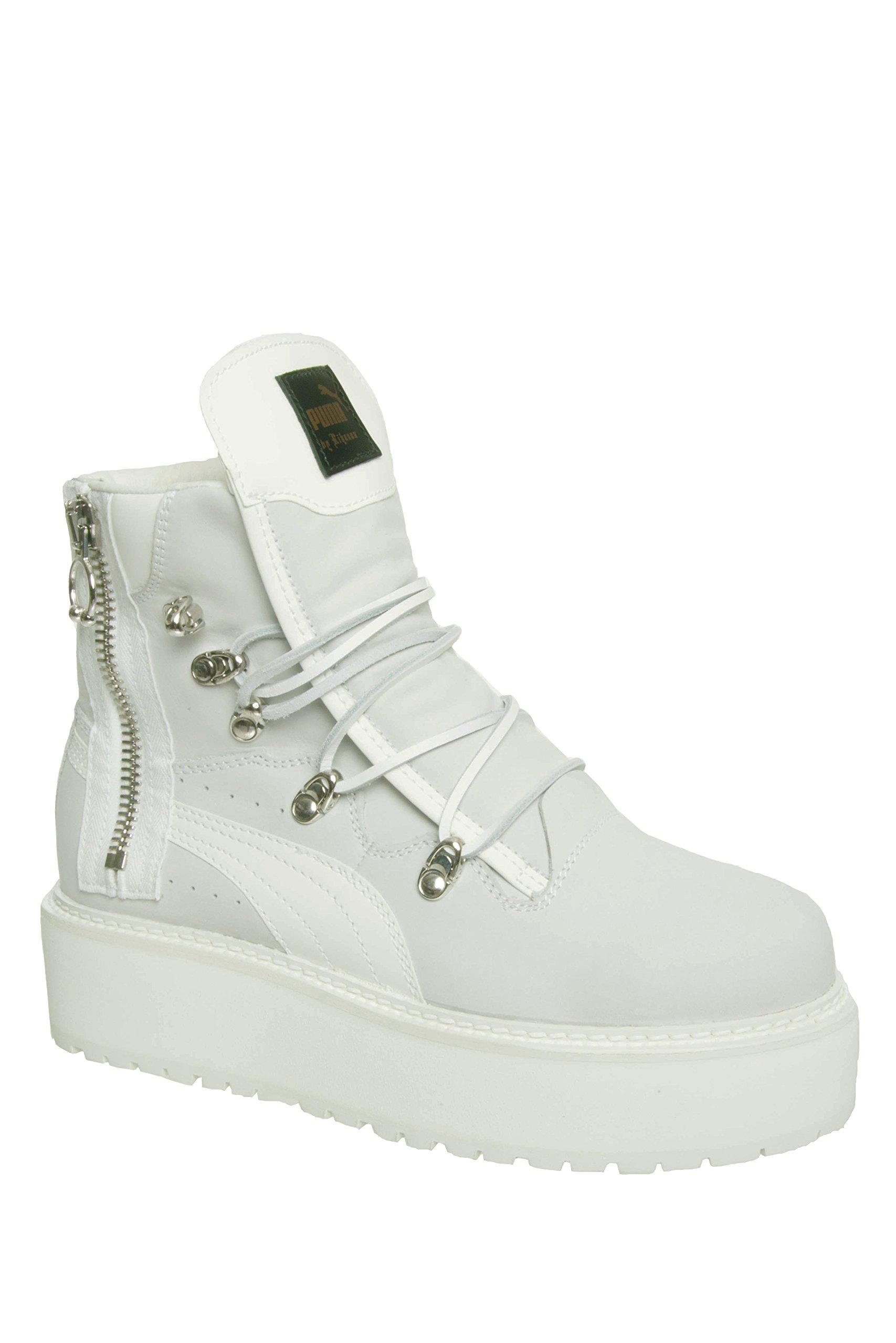 Puma Unisex Fenty x by Rihanna Platform Eyelet Sneaker Boot - White