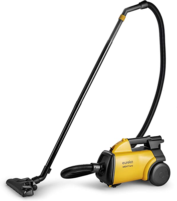 Eureka Mighty Mite 3670M Corded Canister Vacuum Cleaner, Yellow, 3670 w/ 5bags
