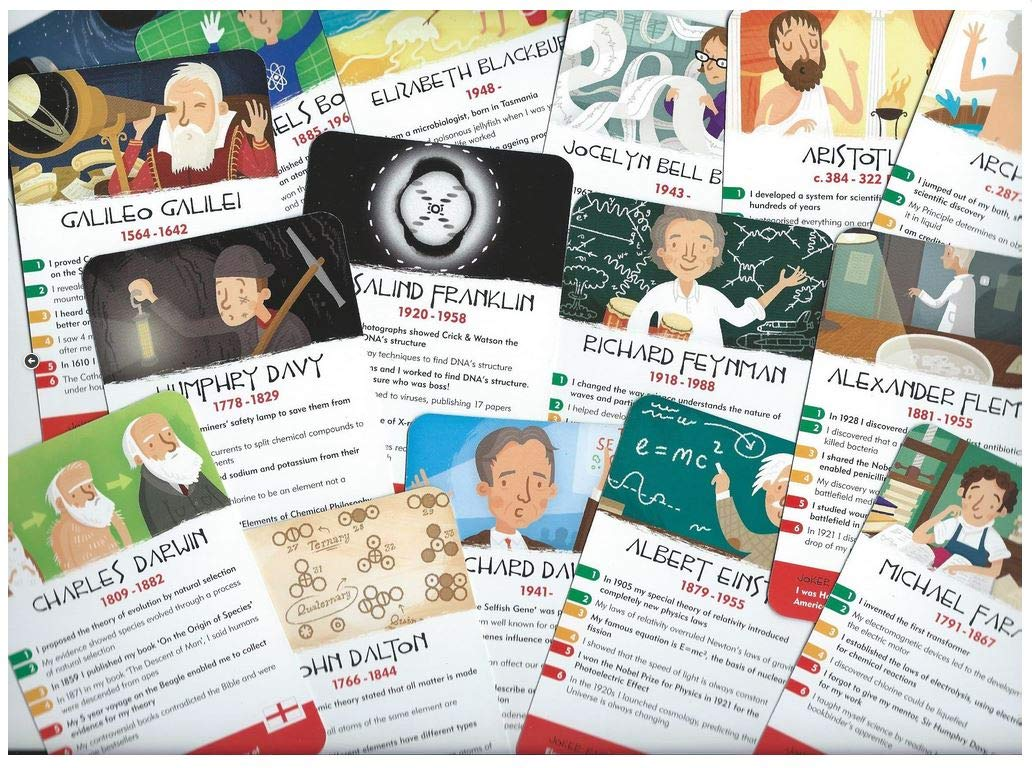 History Heroes Card Game Inventors // Scientists an Award Winning Quiz Card Game to Educate /& Entertain 2 Pack Bundle with Free Score // Note Pad