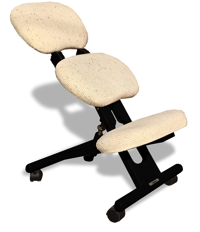 Cinius Silla ergonómica Profesional Color Negro/Crema con Respaldo: Amazon.es: Hogar