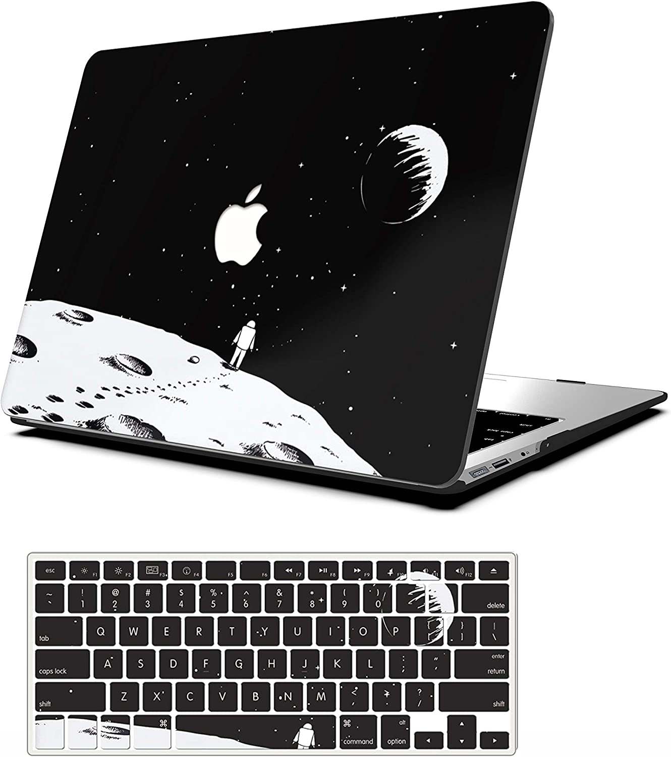 AOGGY MacBook air 11 inch Case, Outer Space Model Ultra-Thin HD Painted Plastic Coated PC Hard Shell Protector Cover with Keyboard Cover,for MacBook Air 11.6 inch (A1370 and A1465)-Astronaut 2