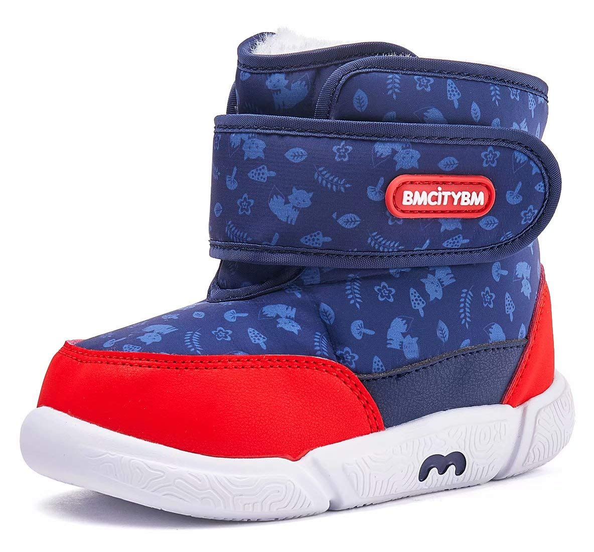 BMCiTYBM Toddler Snow Boot for Baby Girl Baby Boy Winter Waterproof Outdoor Infant ShoesM18FW008-blue-165