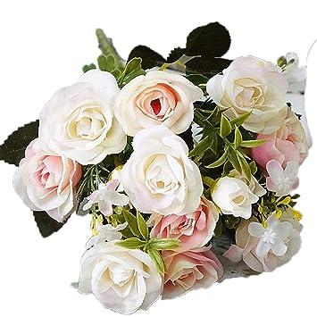Amazon.com: 13 cabezas/ramo flores artificiales pequeños bud ...