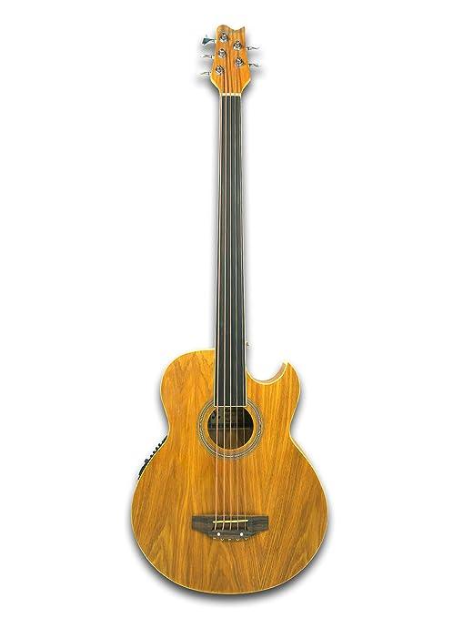 Guitarra Acústica Cutaway Eléctrico fretless 5 cuerdas