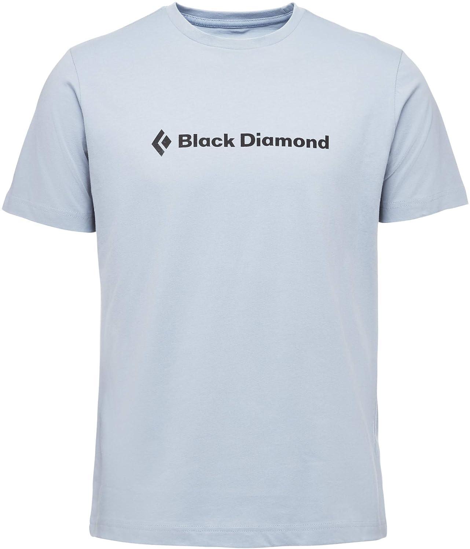Black Diamond Mens SS Brand Tee Stone Blue M