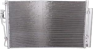 LSAILON AC Condenser Replacement for2010-2012 Hyundai Santa Fe 2011-2015 Kia Sorento CU3882 976061U100