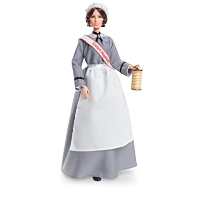 Barbie Inspiring Women Series Florence Nightingale Collectible Doll, Approx. 12-in, Wearing Nurse's Uniform, Apron and Cap with Doll Stand and Certificate of Authenticity: Toys & Games