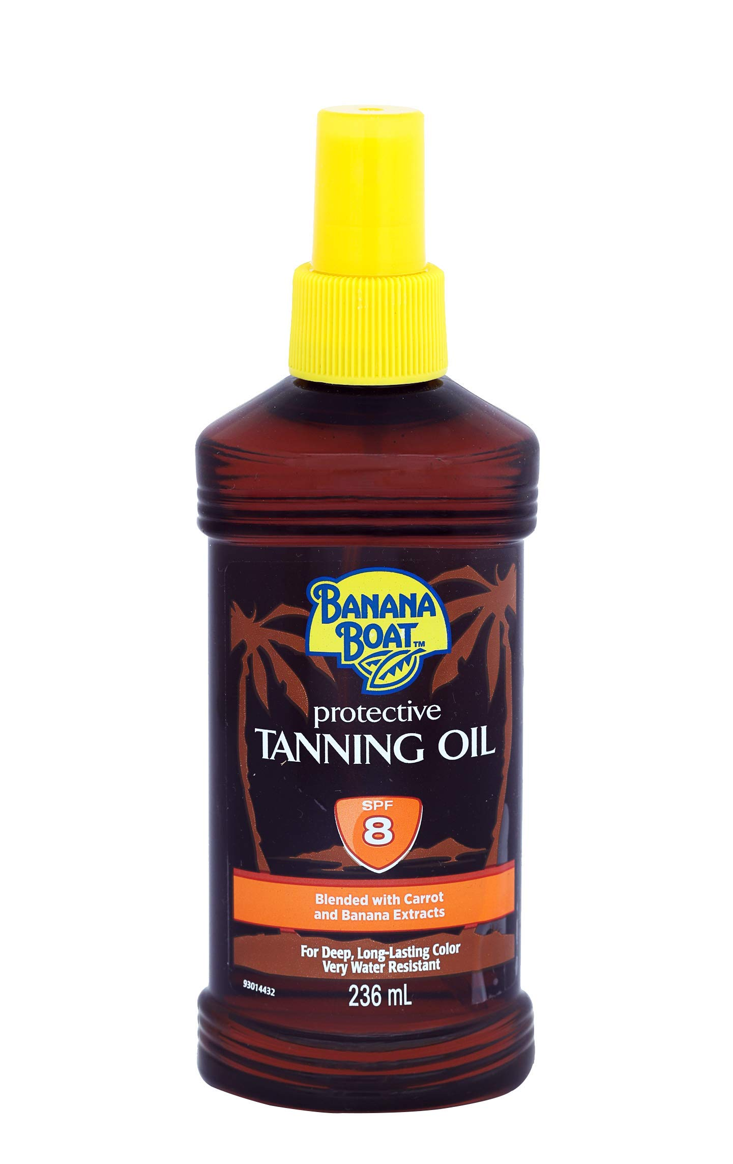 Banana Boat Protective Tanning Oil Spray SPF 8 Sunscreen, 82 Fl Oz