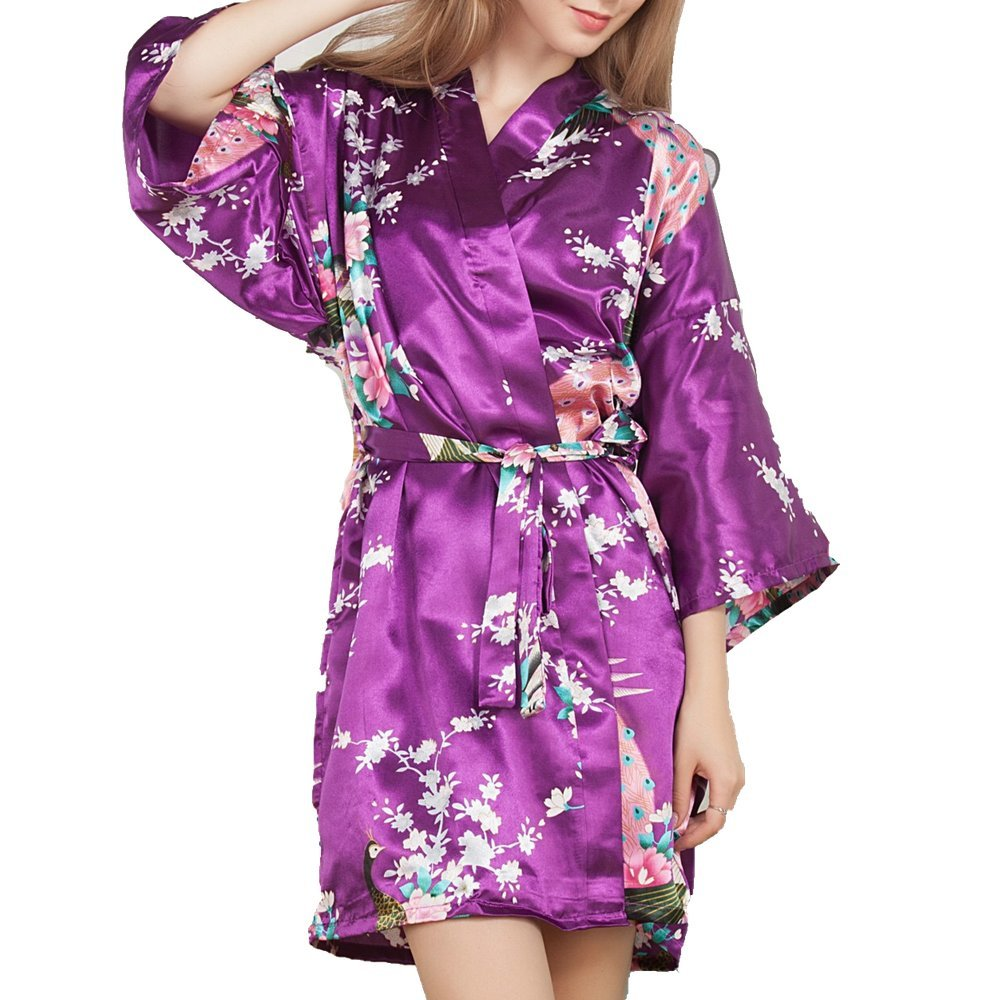 SamWell SLEEPWEAR レディース B06WP7FLYZ Deep Purple Bathrobe Deep Purple Bathrobe, 聖籠町:ba86af84 --- quintrix.jp
