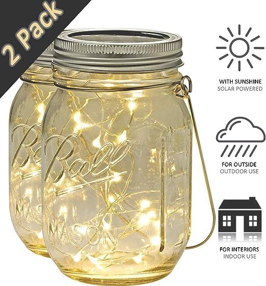 Solarleuchte Windlicht Solar Laterne Glas Kugel LED Garten Beleuchtung Lampe