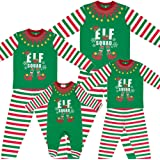 49f730f7aa Made By Elves Elf Squad PJs Matching Family Christmas Elf Pyjamas Mens  Womens Child Newborn