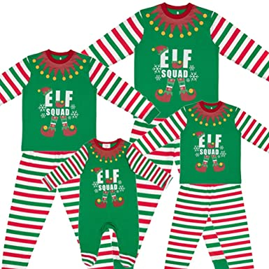ec1c3e4705 Made By Elves Kids Elf Squad Matching Family Christmas Elf Pyjamas - 6-9  Months