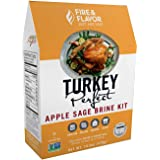 Fire & Flavor All Natural Turkey Perfect Apple Sage Brine Kit, Perfect for Roasting, Grilling, Smoking, and Frying 14.4 Ounce