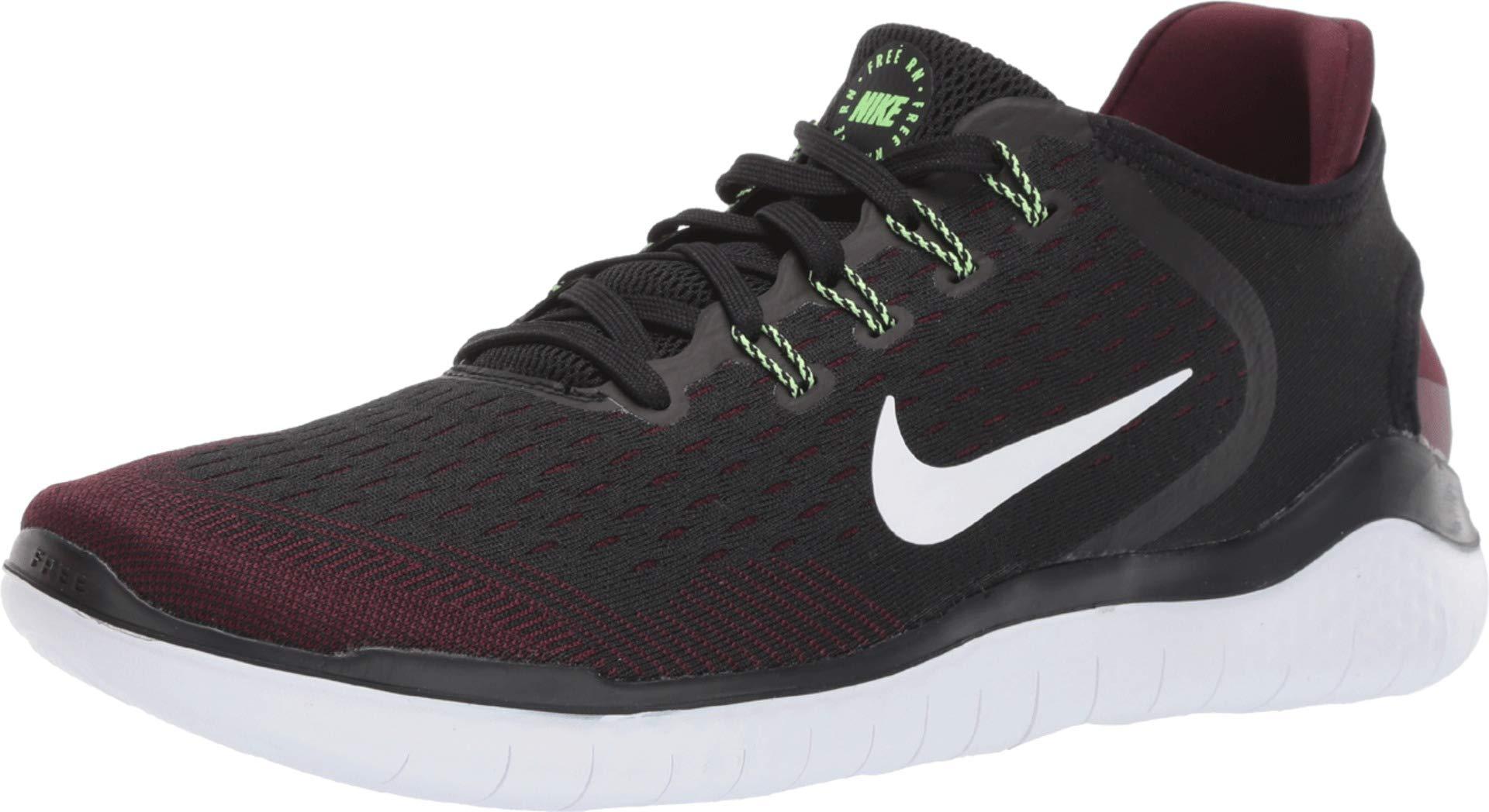 Nike Men's Free RN 2018 Night Maroon/Black/Lime Blast 7 D US