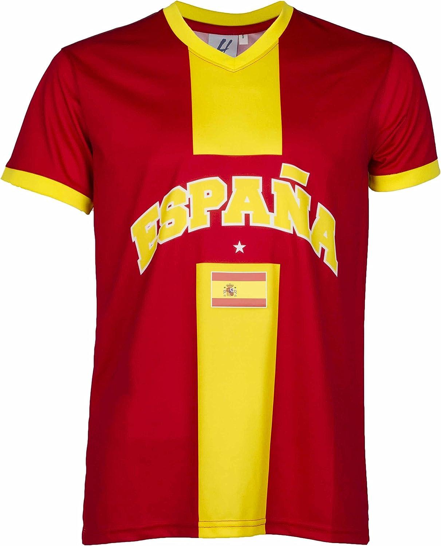A chacun son País - Camiseta España – Colección Supporter – Talla de adulto para hombre: Amazon.es: Deportes y aire libre