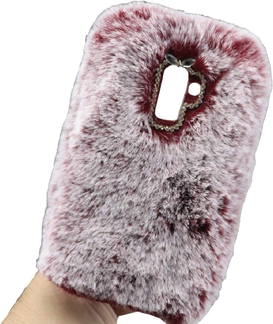 CoolPad Cool1 Art Case, Handmade Fluffy Villi Wool Cute Ball Tail Winter Warm Soft Funda, TAITOU Beautiful Special Full Wool Design Light Slim Protection Phone Case For CoolPad Cool 1 Red: Amazon.es:
