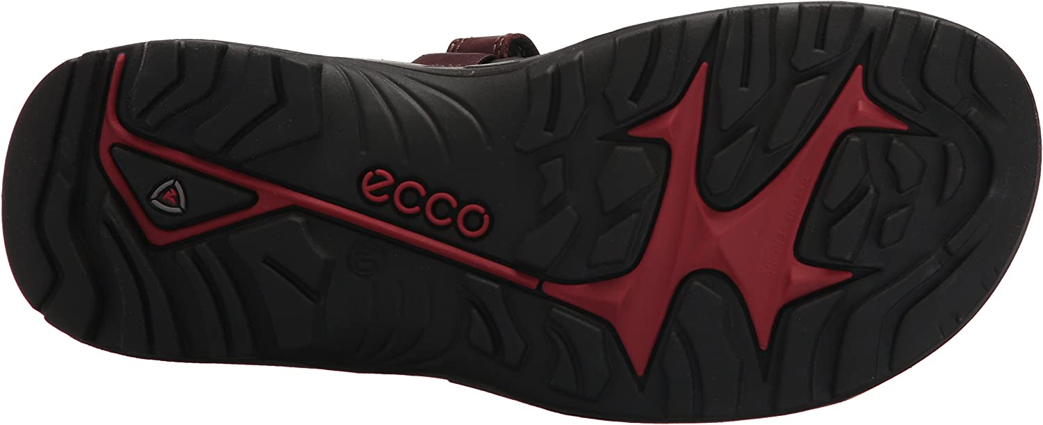 ECCO Men's Yucatan outdoor offroad hiking sandal Brandy Lux Leather